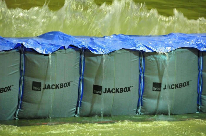 HESCO Jackbox USACE Flood Barrier Testing