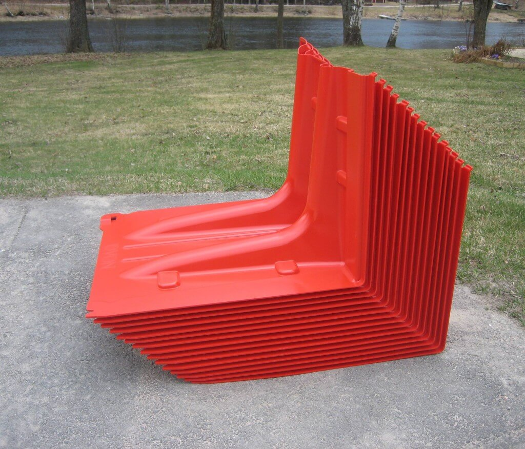 NOAQ Boxwall Flood Control Barriers Stacked