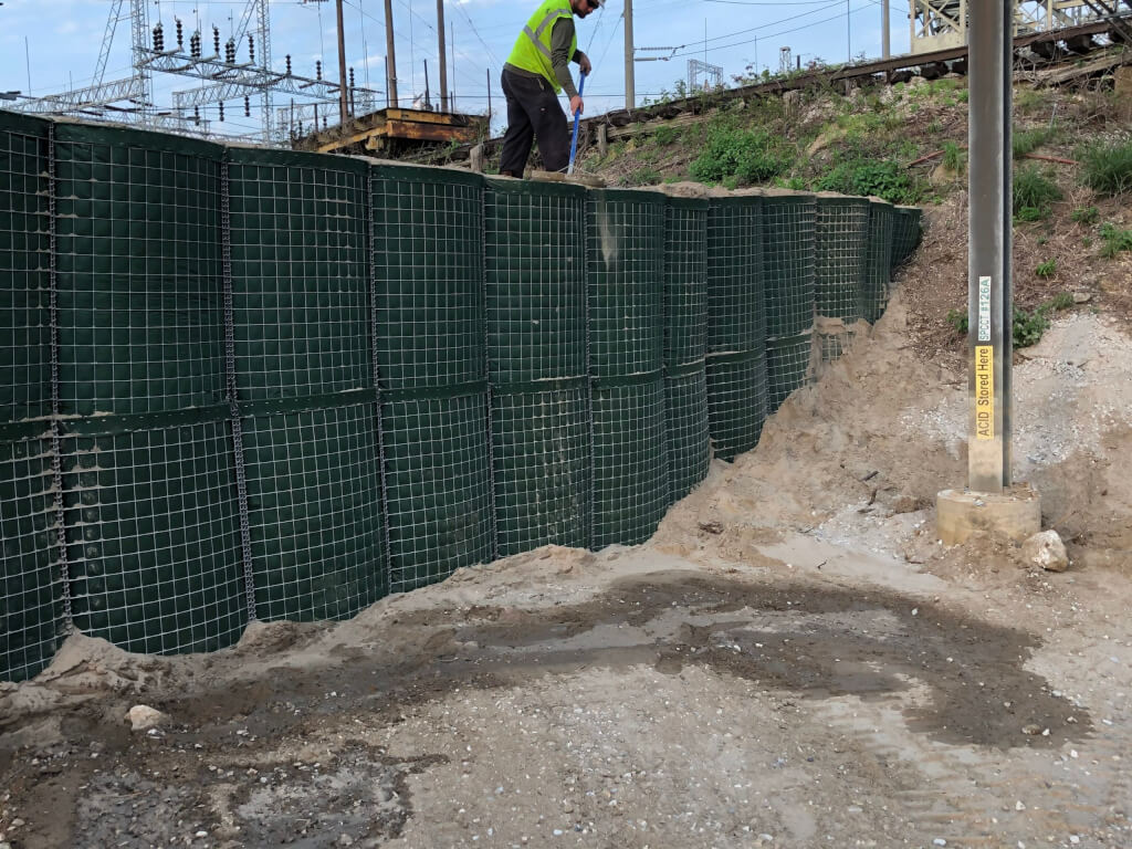 Flood Barrier tied into existing berm